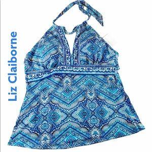 Beautiful Blue Liz Claiborne Swimwear Top